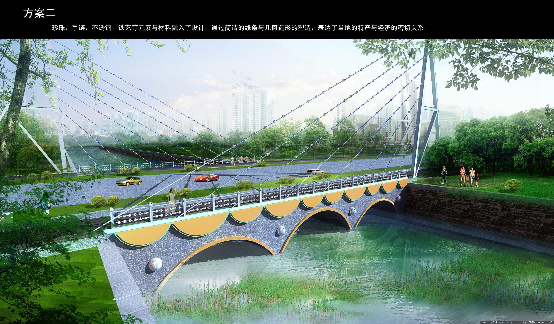 道路桥梁毕业设计_渭塘桥梁景观设计效果图3张-大图的图片浏览,园林效果图,道路 ...