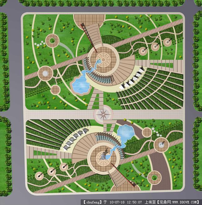 一个广场的景观平面效果图的图片浏览,园林方