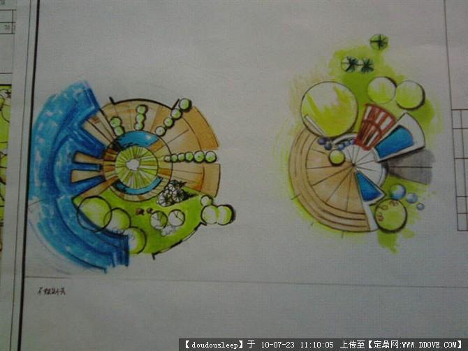 彩铅手绘室内平面图
