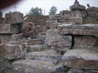园林景观工程;龟纹石景石,驳岸照片,