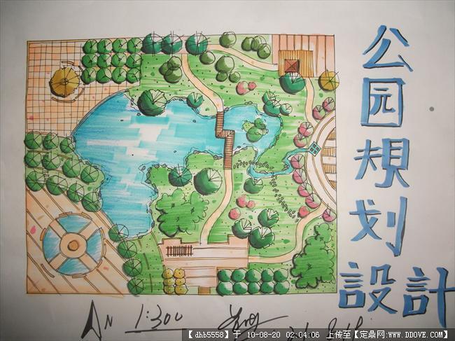 园林景观手绘平面图,手绘小区景观平面图,校园景观手绘平面图,