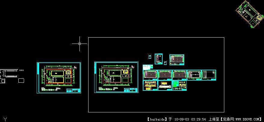 像素工业厂房CAD图纸多层英文图纸图片