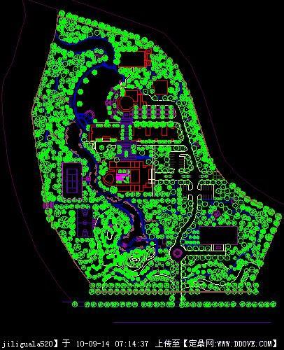 公园园林规划设计cad图纸