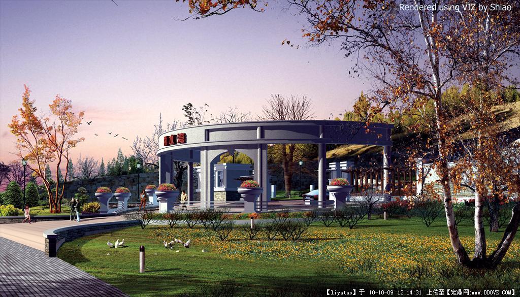 水景住宅景观设计cad方案 效果的下载地址