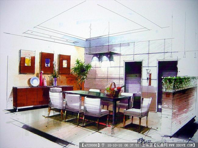 室内厨房手绘效果图图片 室内厨房手绘效果图,厨房手绘效果