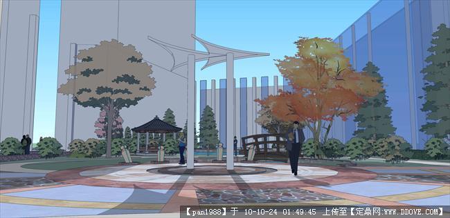 小区庭院设计效果图的图片浏览,园林效果图,居 区,园林景观