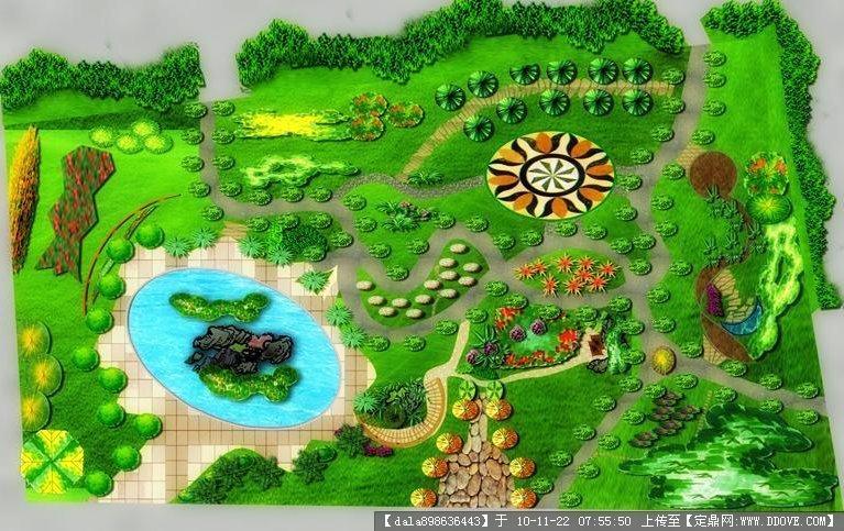 公园局部平面图_小游园设计总平面图