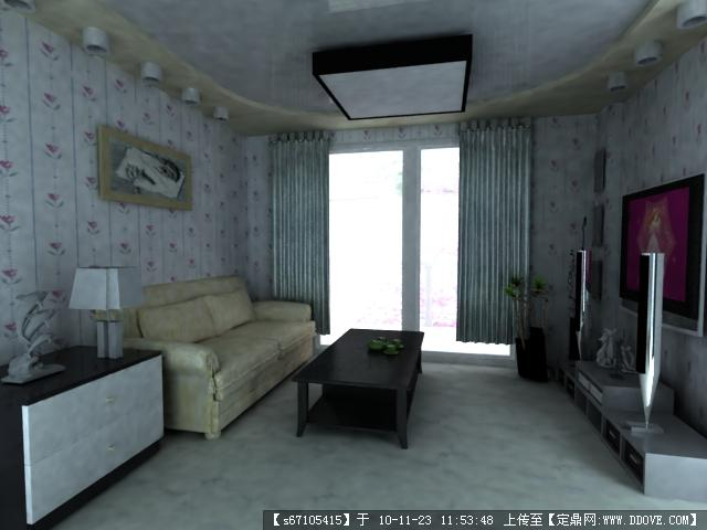 3D室内建模加效果图