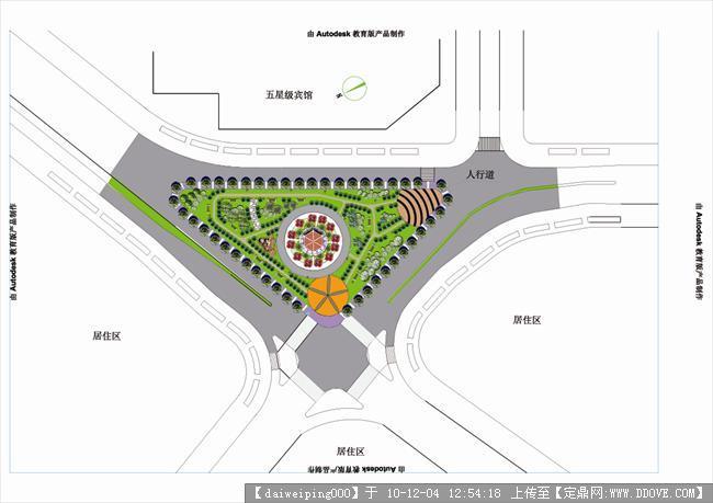 环岛项目公园老家设计图的图纸v环岛,园林别墅道路图片景观图片