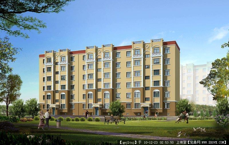 小区多层住宅楼模型()