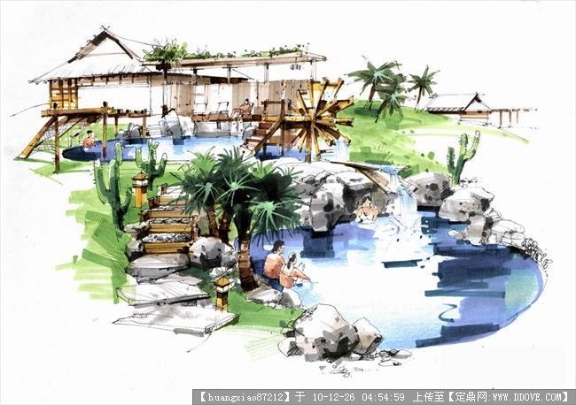 小区入户节点景观 小区景观节点图 公园景观节点效果图