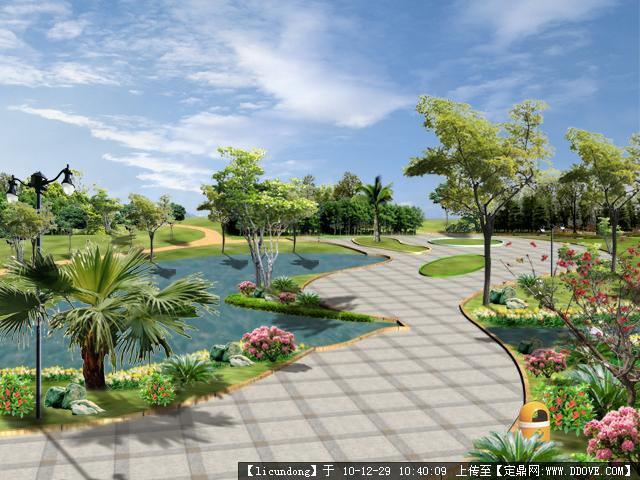 公园景观节点效果图3张的图片浏览,园林效果图,公园景观,园林景