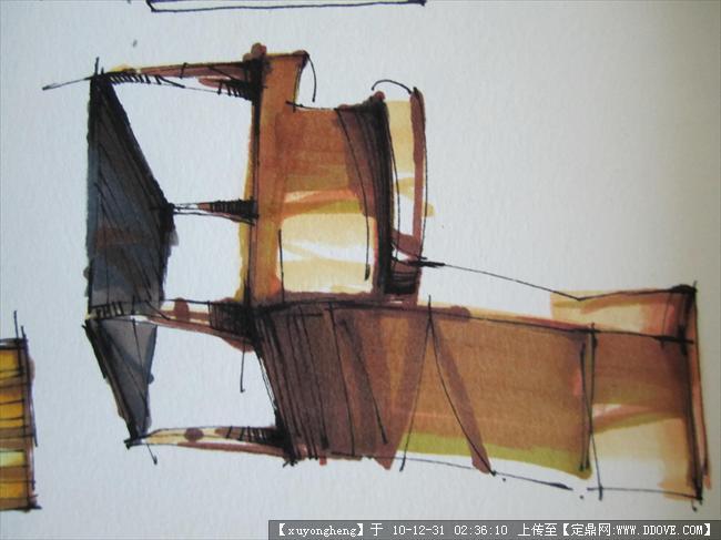 中式马克笔坐椅_