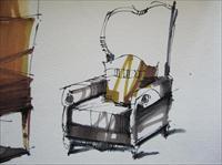 中式马克笔坐椅_绘图手绘单体马克笔上