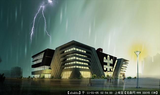 建筑设计博物馆效果图(effectdrawingmuseumcad电路图下载室内设计图片