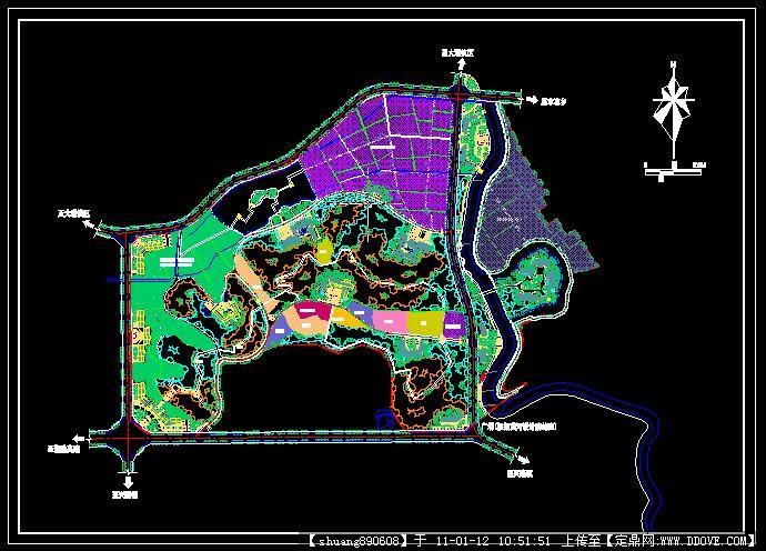 国家级农业园区规划设计cad小图标怎么办快捷太图片
