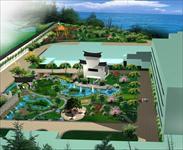 效果图 居住区/中式花园形式表现的小区景观效果图...