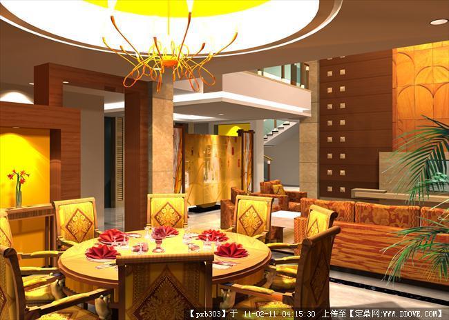 大厅室内别墅效果图(IndoorHallEffectPicture香港周星驰别墅图图片