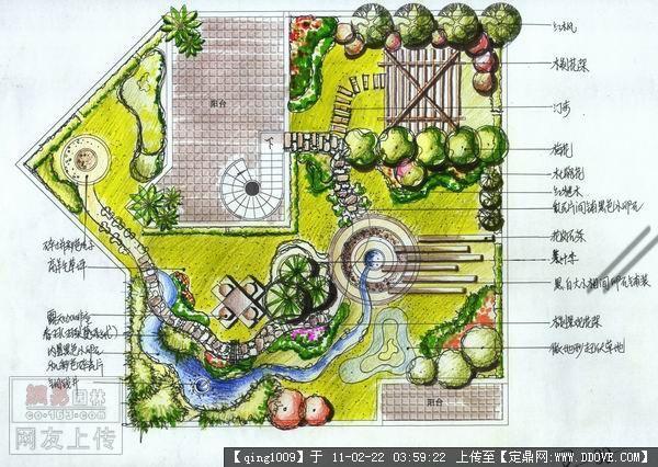 景观设计cad平面图,庭院景观设计平面图,景观设计总平面图,
