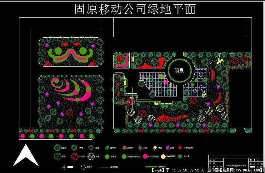 某公司绿地植物造景CAD平面图