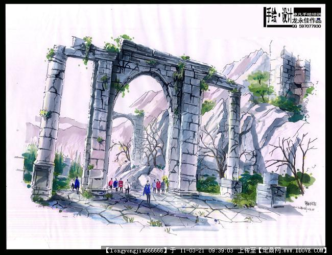 图的图片浏览,园林效果图,手绘效果,园林景观设计施工图纸资料