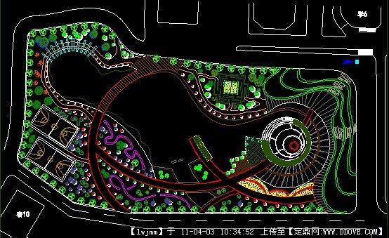 校园广场CAD平面图