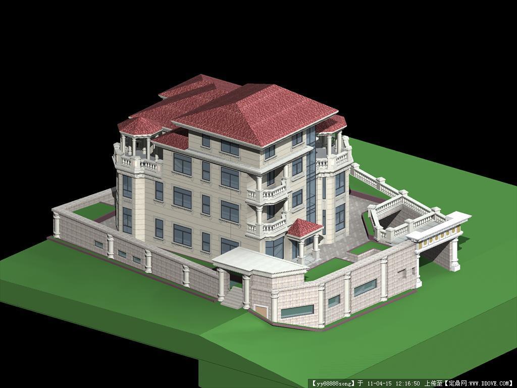 厦门某深度室内装饰CAD全套图纸+建筑模型效孔如何工程图纸别墅标注图片