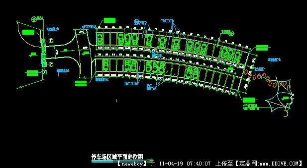 停车场CADv方案方案名都期淮北四恒大图纸图片