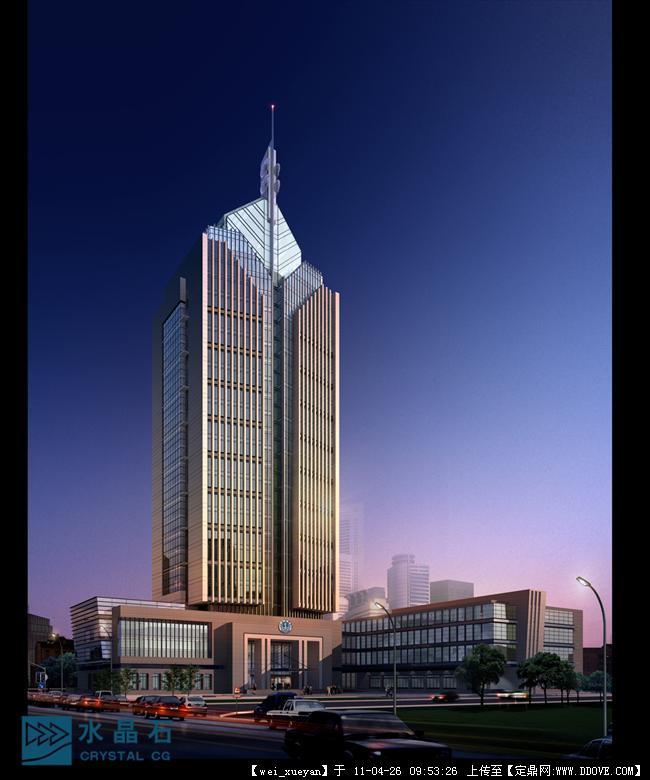 很不错的高层办公楼效果图8张