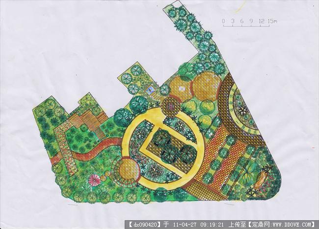 校园小游园设计_校园小游园设计设计
