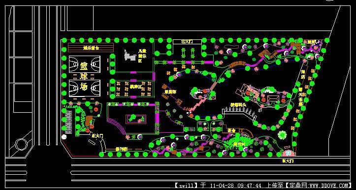 小游园用地总平面图的下载地址,园林方案设计,街头绿地,园林