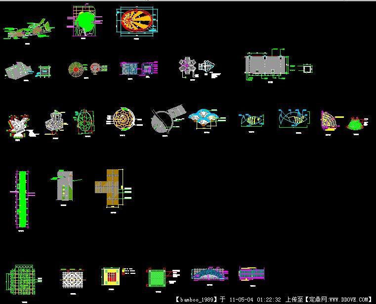 CAD样式铺装详图广场cad标注怎么坐标系世界图片