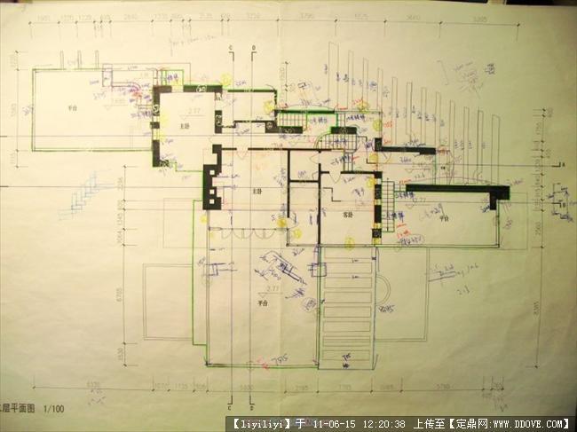莱特流水别墅立面 平面 功能分区图14张的图片浏览,建筑方案图纸