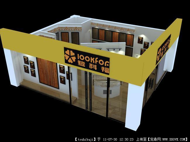 地板專賣店效果圖的圖片瀏覽,室內效果圖,商業購物,室內裝飾