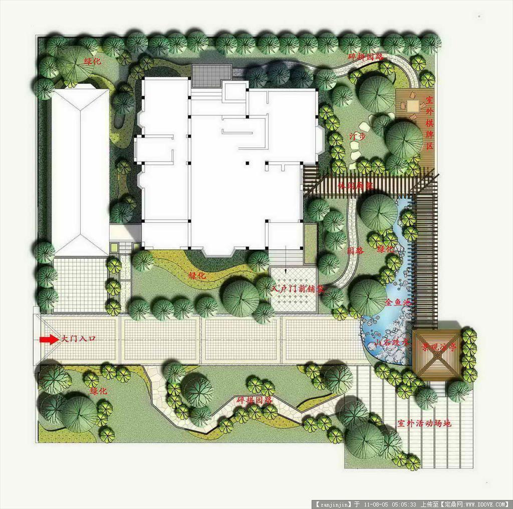 小庭院设计平面图_别墅庭院景观设计总平面图