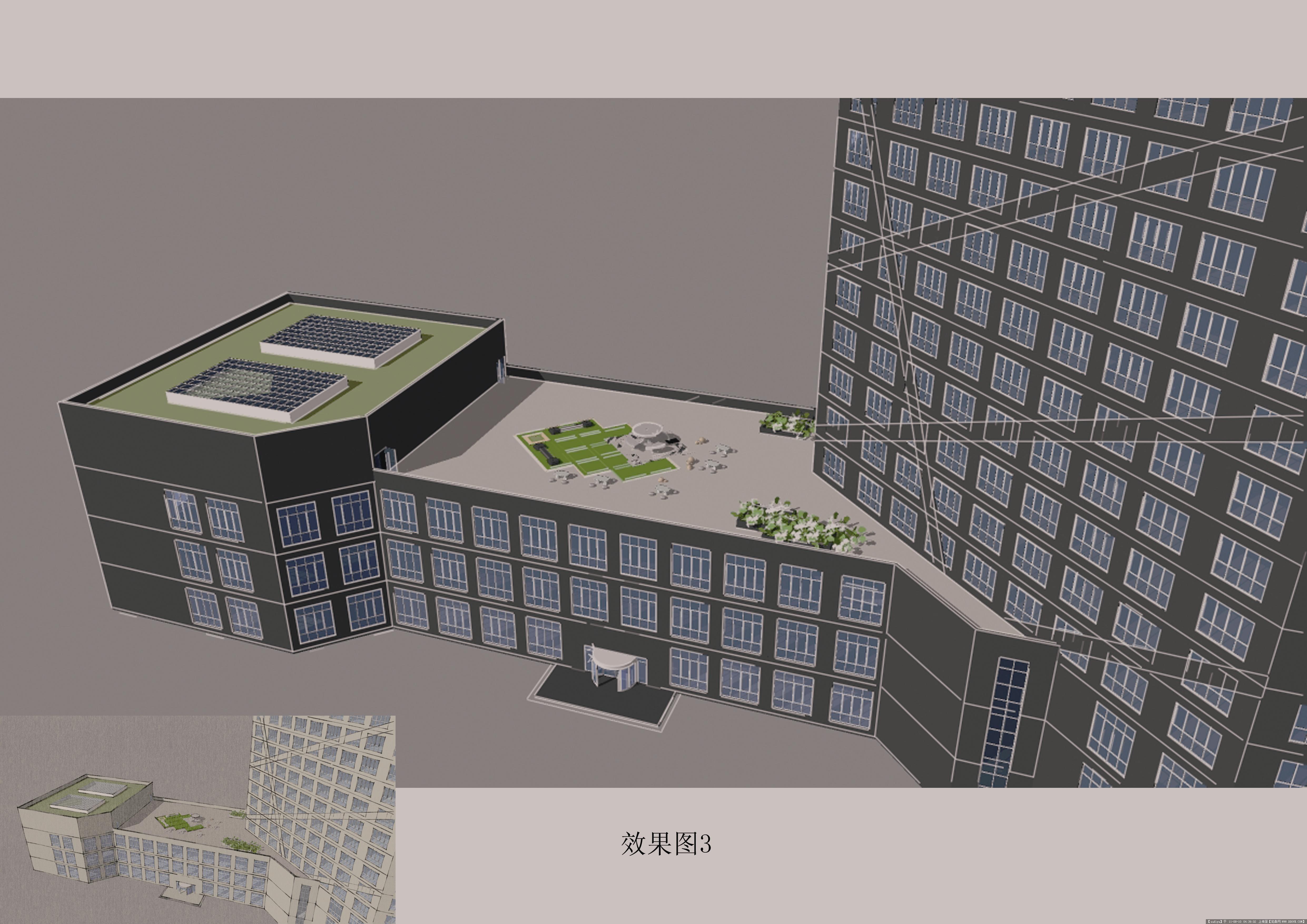 高层办公楼酒店设计cad图纸,文本,效果图,施工图,sketchup全