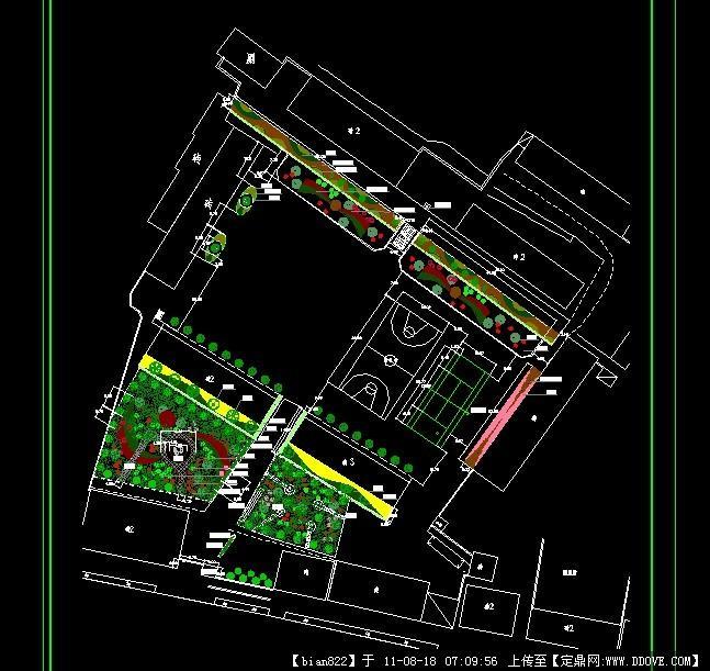 中心学校绿化布置平面图