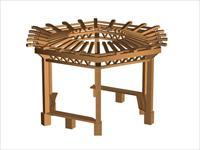 木质凉亭3D模型