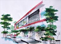 建筑手绘作品